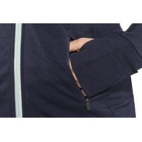 Icebreaker Quantum LS Zip Hood Jacket Women Midnight Navy/Dew